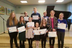 19. veebr. 2018 Eesti heliloojate klaveripalade festivalil osalenud noored pianistid